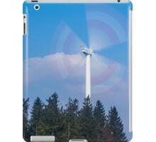 Wind turbine near Kniebis, Black Forest, Germany iPad Case/Skin