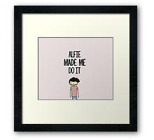 'Alfie Made Me Do It' Alfie Deyes Cartoon Framed Print