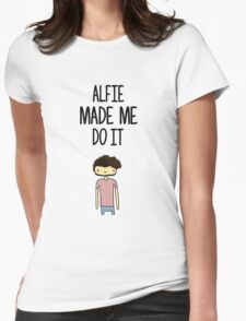 'Alfie Made Me Do It' Alfie Deyes Cartoon Womens Fitted T-Shirt