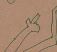 """Finger Guns"" by Richard F. Yates Sticker"