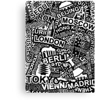 World City Doodle Canvas Print
