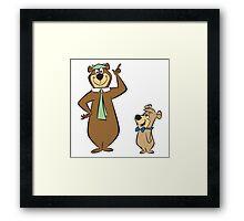 Yogi and teddy bear! Framed Print