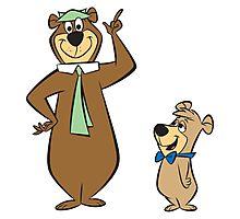 Yogi and teddy bear! Photographic Print