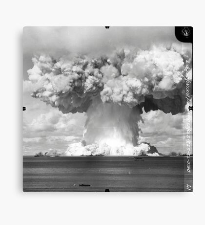 Baker Test atomic explosion Operation Crossroads (July 25 1946) Canvas Print