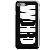 WDHRO (DR WHO, Vertical, Black) iPhone Case/Skin