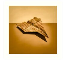 Paper Airplanes of Wood 5 Art Print