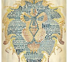 World of Warcraft Alliance Typography by SkahfeeStudios