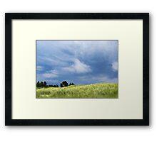 Storm Over Grassy Dunes Framed Print