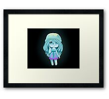 Jelly Fish Girl- Chibi Framed Print