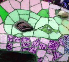 Gaudi Mosaics - Lizard Head Park Guell Barcelona  Sticker
