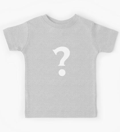 Question Mark - style 7 Kids Tee