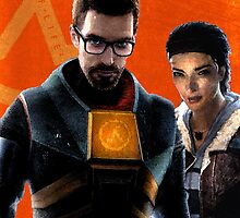 Half-Life 2: Gordon Freeman and Alyx Vance by BrandonFloyd
