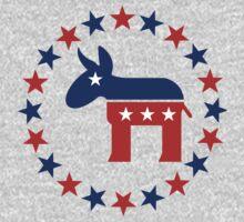 Great Democrat Donkey Stars Kids Tee