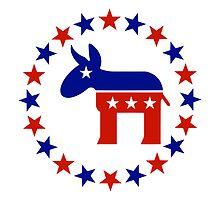Great Democrat Donkey Stars by Democrat