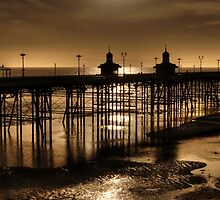 North Pier at Ebb Tide by Steve