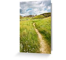 Trail in Badlands in Alberta, Canada Greeting Card
