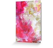Painted Flowers Greeting Card