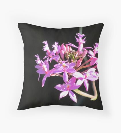 crucifix orchid Throw Pillow