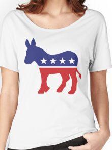 Democrat Original Donkey Women's Relaxed Fit T-Shirt