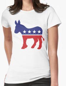 Democrat Original Donkey Womens Fitted T-Shirt