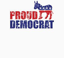 Proud Democrat Donkey Distressed Unisex T-Shirt