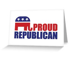 Proud Republican Elephant Greeting Card