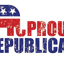 Proud Republican Elephant Distressed Tan by Republican