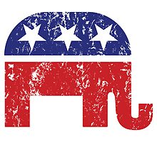 Republican Original Elephant Distressed by Republican