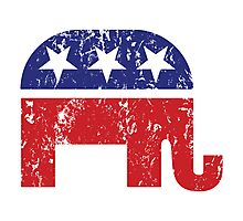 Republican Original Elephant Distressed Photographic Print