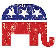 Republican Original Elephant Distressed Tan by Republican