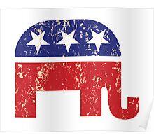 Republican Original Elephant Distressed Tan Poster