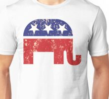 Republican Original Elephant Distressed Tan Unisex T-Shirt