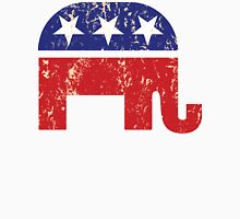 Republican Original Elephant Distressed Tan Unisex T-Shirt