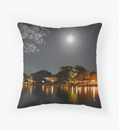 Sandals Royal Carribean by Moonlight - Jamaica Throw Pillow