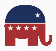 Republican Elephant New  One Piece - Short Sleeve