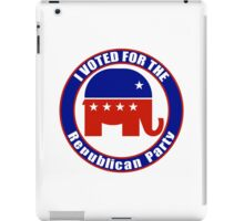 Voted for Republican Party iPad Case/Skin