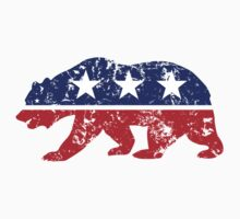 California Republican Bear Distressed Plain Kids Clothes
