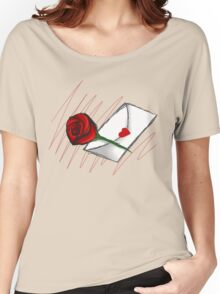 Red Rose -Love Letter Women's Relaxed Fit T-Shirt