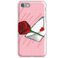 Red Rose -Love Letter iPhone Case/Skin