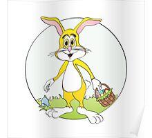 Easter Bunny Yellow Rabbit Cartoon Poster