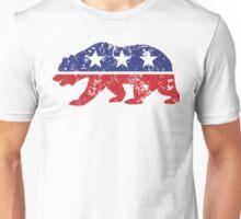 California Bear Distressed Plain Unisex T-Shirt