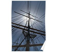 Tall Ship's Rigging Poster