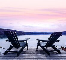 Lake chairs by Elena Elisseeva