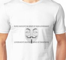 Anonymous - Government Quote  Unisex T-Shirt