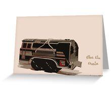 The tin train. Greeting Card