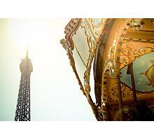 Eiffel carousel Photographic Print