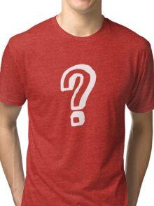 Question Mark - style 8 Tri-blend T-Shirt