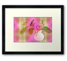 Textured Romantic Pink Rose  Framed Print