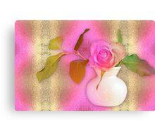 Textured Romantic Pink Rose  Canvas Print
