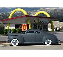 1941 Ford Custom Business Coupe built by George Barris Photographic Print